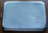 Tabachera din argint , interbelica , gravata manual ; 145 grame