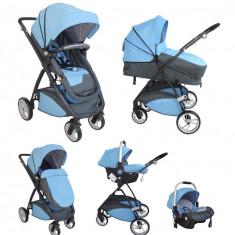 Carucior multifunctional 3 in 1 Neptune Blue Pierre Cardin - Carucior copii 3 in 1
