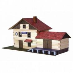 Set constructie din lemn cu lipici Gara Mare Walachia - LEGO Technic