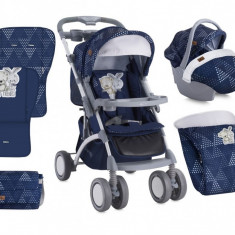 Carucior 3 in 1 Apollo Dark Blue Friends Bertoni - Carucior copii 3 in 1