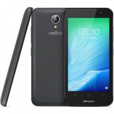 Smartphone TP-Link Neffos Y50 Dual Sim 4.5 Inch, Quad Core, 1 GB RAM, 8 GB, 4G, Android Marshmallow, Gri inchis