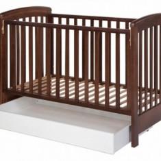 Sertar universal pe roti Alb Treppy - Patut lemn pentru bebelusi