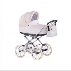 Carucior copii 2 in 1 Marita Prestige Chrome S59 (Crem cu Alb) Roan