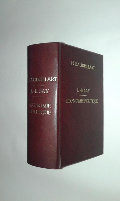 J.B.SAY-ECONOMIE POLITIQUE\TURGOT-ADMINISTRATION ET..\STANLEY JEVONS-ECONOMIE P. foto mare