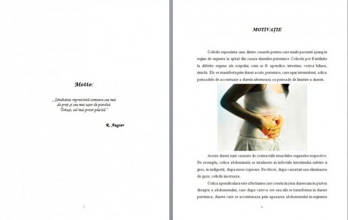 LUCRARE DE LICENTA AMG – INGRIJIREA PACIENTULUI CU COLICA BILIARA