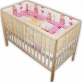 Lenjerie patut copii Hubners Ursuletul Gradinar 5piese roz - Lenjerie pat copii