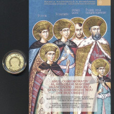 MONEDA AUR - 100 LEI 2014 - ANUL COMEMORATIV AL SFINTILOR MARTIRI BRANCOVENI - Moneda Romania