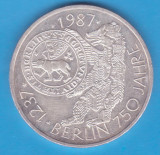 (2) MONEDA DIN ARGINT GERMANIA - 10 MARK 1987, LIT. J - BERLIN - 750 ANI, Europa