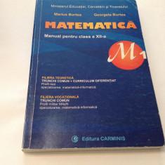Matematica M1. Manual pentru clasa a XII-a - Marius Burtea, Georgeta Burtea, R19 - Carte Matematica