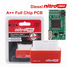 Interfata Chip Tuning Box Auto OBD2 - creste puterea motorului Diesel OBD II, Universal
