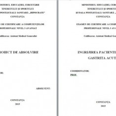 LUCRARE DE LICENTA AMG – INGRIJIREA PACIENTILOR CU GASTRITA ACUTA (1)