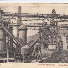 RESITA VEDEREA FURNALELOR EDITURA OTTO SCHWARTZ RESITA CIRCULATA 1929 - Carte Postala Banat dupa 1918, Printata