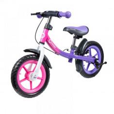 Bicicleta fara pedale Dan Plus Pink Chameleon Lionelo - Bicicleta copii