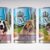 King Dog - conserva cu carne de vita - 1240 gr - Carte in engleza