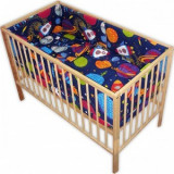 Lenjerie patut copii Hubners Planete 5 piese albastru - Lenjerie pat copii