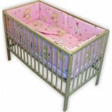 Lenjerie patut copii Hubners Ursulet cu Iepuras 5piese roz - Lenjerie pat copii