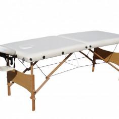 Pat masaj 2 sectiuni,pliabil,structura lemn Masa masaj