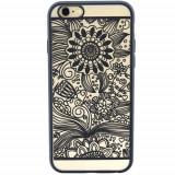Husa Protectie Spate YUPPI LOVE TECH Spirit Natural Negru pentru APPLE iPhone 6 Plus, iPhone 6s Plus