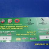Bilet       Polonia Varsovia  -  Dinamo