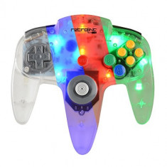 Controller N64 Usb Blue Red Green Led Pc