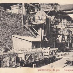 RESITA GENERATOARELE DE GAZ EDITURA OTTO SCHWARTZ RESITA - Carte Postala Banat dupa 1918, Necirculata, Printata