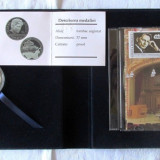 Caseta comemorativa GEORGE ENESCU (medalie + CD, timbru cu stampila fest.), 2005