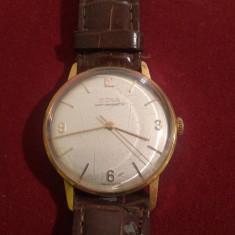 Ceas vechi- Doxa Anti-Magnetic - VINTAGE - Ceas barbatesc Doxa, Elegant, Mecanic-Manual, Metal necunoscut, Piele, Analog