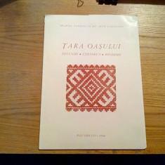 TARA OASULUI - Tesaturi * Ceramica * Broderii - Bucuresti, 1986, 12 planse - Carte Arta populara