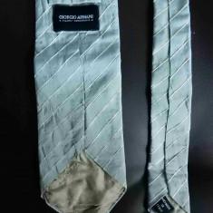 Cravata Giorgio Armani Handmade in Italy; 100% matase; 142 cm lungime totala, Culoare: Din imagine