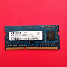 Memorie laptop 4 GB RAM DDR3 ELPIDA 1Rx8 PC3-12800S-11-10-B2 1600MHz / 4GB DDR3 - Memorie RAM laptop