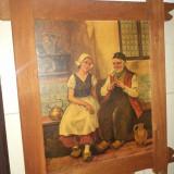 Un tablou deosebit antic litografiat,stare exceptionala, Portrete, Ulei, Realism
