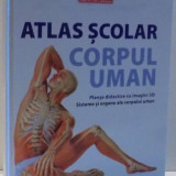 ATLAS SCOLAR, CORPUL UMAN, PLANSE DIDACTICE CU IMAGINI 3D, 2017