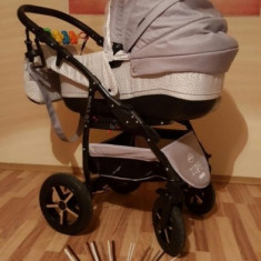 Carucior 3 in 1 Baby Merc Zipy Q - Carucior copii 3 in 1 Baby-Merc, Gri