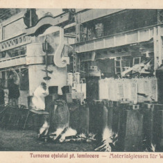 RESITA TURNAREA OTELULUI PENTRU LAMINOARE EDITURA OTTO SCHWARTZ RESITA - Carte Postala Banat dupa 1918, Necirculata, Printata