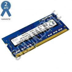 Memorie 2GB Hynix DDR3 1600MHz SODIMM, pentru Laptop, Notebook GARANTIE 2 ANI !