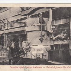 RESITA FURNALELE OTELULUI PENTRU LAMINOARE EDITURA OTTO SCHWARTZ RESITA - Carte Postala Banat dupa 1918, Necirculata, Printata