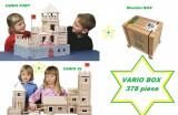 Big Set Vario Box  378 piese - Set Cufar Walachia jucarii din lemn