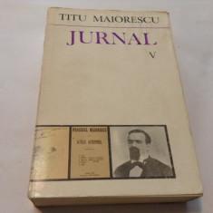Jurnal vol. V-Titu Maiorescu, r19 - Biografie