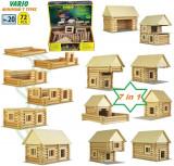 Set constructie VARIO 72 piese  Walachia jucarii din lemn 7 in 1