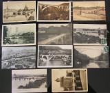 Lot Carti Postale Vechi Tematica Poduri si Viaducte - 11 bucati circulate timbru, Necirculata, Fotografie