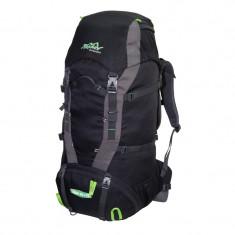 Rucsac de munte Tashev Alpin 60+10 Negru / Gri / Verde, 70 L