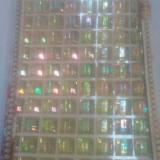Accesoriu handmade - piatra tip diamant patrat 12/12 mm cu adeziv - 80 buc