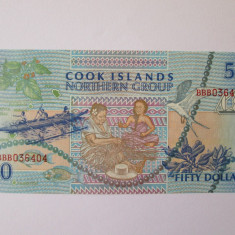 Cook Islands 50 Dollars 1992 UNC