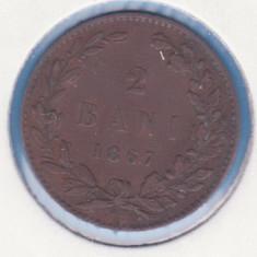 (R) MONEDA ROMANIA - 2 BANI 1867 WATT & CO.