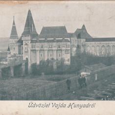 HUNEDOARA SALUTARI DE LA CASTELUL HUNIAZILOR - Carte Postala Transilvania pana la 1904, Necirculata, Printata