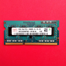 Memorie laptop 2 GB RAM DDR3 Hynix 1Rx8 PC3-10600S-09-11-B1 1333MHz /2GB DDR3 - Memorie RAM laptop
