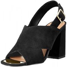 Sandale ALDO noi negre, din piele intoarsa - Sandale dama Aldo, Culoare: Negru, Marime: 37