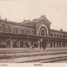 RAMNICUL SARAT, BAHNHOF, GARA - Carte Postala Muntenia 1904-1918, Ramnicu Sarat, Necirculata, Printata