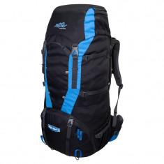 Rucsac de munte tehnic Tashev Alpin 80+15 Negru/Albastru, 80 L