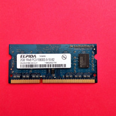 Memorie laptop 2 GB RAM DDR3 ELPIDA 1Rx8 PC3-10600S-09-10-B2 1333MHz /2GB DDR3 - Memorie RAM laptop